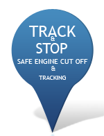 Track and stop safe engine cut off